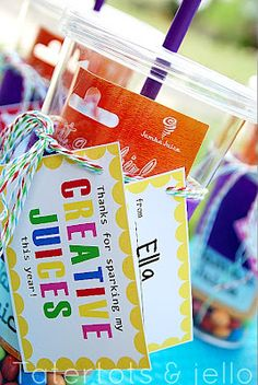 DIY end of the year teacher gifts