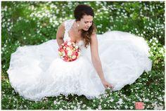 Bride picking Windflowers - Spring wedding bridal portrait - Bryllupsfotografering i en eng av hvitveis Girls Dresses, Flower Girl Dresses, Wedding Photoshoot, Photo Shoot, Google Search, Wedding Dresses, Flowers, Ideas, Fashion