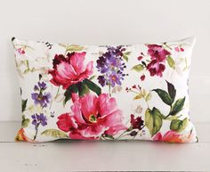 Peony blooms fuchsia pink cushion cover  by VilladeLuxeBoutique, $45.78