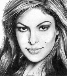 Eva Mendes by {from the United Kingdom} ~ pencil portrait Eva Mendes, Cool Pencil Drawings, Pencil Art, Drawing Sketches, Celebrity Drawings, Celebrity Portraits, Eye Drawing Tutorials, Etch A Sketch, Star Art
