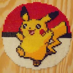 Pikachu Perler Beads by kamikazekeeg on DeviantArt