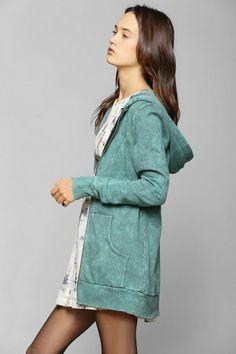 Staring At Stars Mineralized Tunic Zip-Up Hoodie Sweatshirt #urbanoutfitters