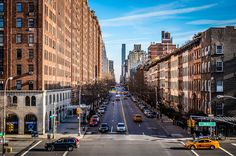 View of the Manhattan streets from the artistic High Line Park :-)