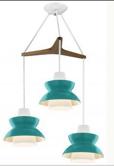 Astron Tri: Mid Century Mod Chandelier  (via houzz.com)    Both the color and shape are inspiring!