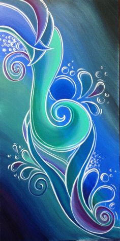 Shared by Reina Cottier Artist. Find images and videos about art, blue and Dream on We Heart It - the app to get lost in what you love. Fabric Painting, Painting & Drawing, Maori Art, Silk Art, Arte Popular, Art Graphique, Fractal Art, Stone Painting, Painting Inspiration