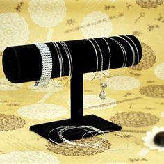 Velvet T-shaped Jewelry Display Stand For Bracelet Bangle