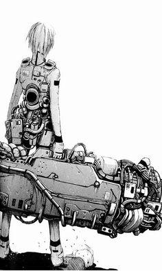 Imagen para o projeto - Final Fantasy: The Spirits Within Manga Anime, Manga Art, Anime Art, Character Concept, Character Art, Concept Art, Character Design, Arte Ninja, Sombre