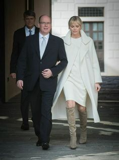 Designer: Akris Occasion: Official presentation of the royal couple's newborn twins   - TownandCountryMag.com