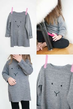 DIY Simple Rabbit Sweater by Pastill.nu this might be modelled on a kid, but I want one in grown up size please!
