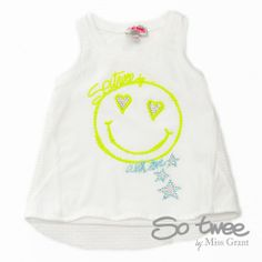 SO TWEE by #missgrant MESH SINGLET WITH SMILE. Sale 50% off Spring&Summer Collection! #discount