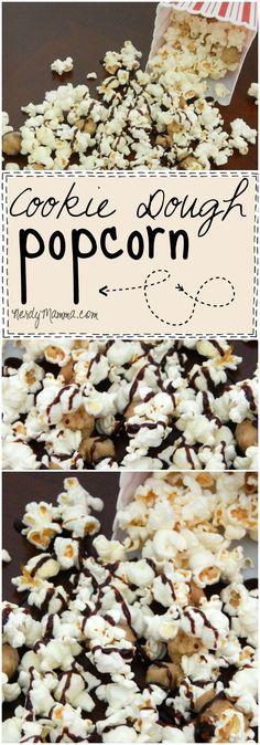 recipe for Cookie Dough popcorn is so freakin& easy!- recipe for Cookie Dough popcorn is so freakin& easy! Popcorn Mix, Gourmet Popcorn, Popcorn Snacks, Flavored Popcorn, Popcorn Balls, Oreo Popcorn, Popcorn Toppings, Popcorn Shop, Sweet Popcorn