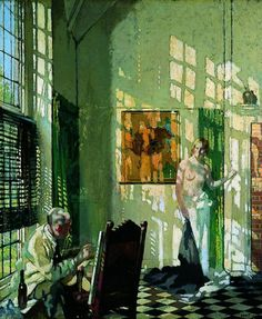 William Orpen - The Studio (1910) -  The light in this painting is incredible...