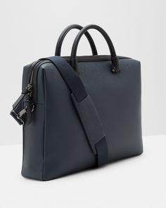 Cross grain document bag - Navy | Bags | Ted Baker