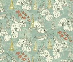 Arctic retro fabric by scrummy on Spoonflower - custom fabric
