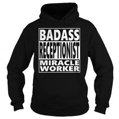 I Love RECEPTIONIST JOBS TSHIRT GUYS LADIES YOUTH TEE HOODIE SWEAT SHIRT VNECK UNISEX T shirts