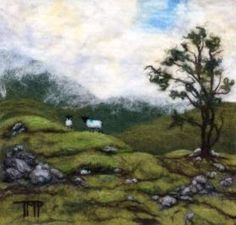 a. Tracey McCracken Palmer talks about Felting Landscapes on www.LivingFelt.com/blog