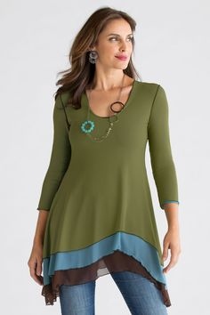 Fable Tunic: Cynthia Ashby: Knit Top | Artful Home Have to change the colours and sleeve length