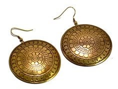 A Pair of Indian Brass Metal Traditional Boho Hippie Earrings Aife_713 Krishna Mart India http://www.amazon.com/dp/B00MHU3TPY/ref=cm_sw_r_pi_dp_FlqJvb063HVZ5