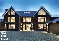 Tony Holt Design : Self Build - New Build Luxury House Bungalows, Dream House Exterior, New Home Designs, New Builds, House Front, Modern House Design, Building A House, Build House, Building Ideas