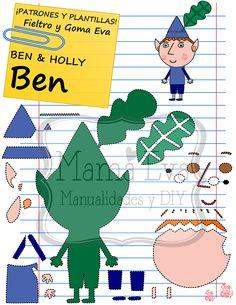 Descarga gratis nuestras plantillas para goma eva y fieltro de tus personajes de dibujos animados actuales favoritos: Ben y Holly.