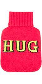 This fun hot water bottle wont have to hide under your bed. Markus Lupfers punchy design looks great alongside your bed pillows and makes a great accompaniment for a fireside hot chocolate. Length from bottom of rib to end 26cm. Width 22cm. 35% Viscose. 29% Wool. 20% Nylon 8% Angora. 8% Cashmere.
