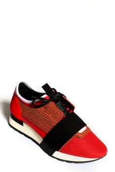 Baskets Race Rouge Balenciaga Balenciaga Sneakers, My Wardrobe, Designer Shoes, Baskets, Dressing, Glamour, Luxury, Red, Fashion Design
