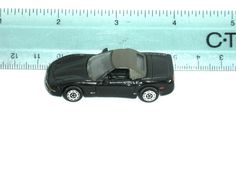 "MICRO MACHINES 1998 BLACK CONVERTIBLE CORVETTE COLLECTORS EDITION 2"" GALOOB  #MICROMACHINES"