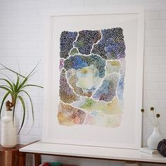 """Minted for west elm - Freckle Topography #westelm, 32""""w x 42""""l. 18""""w x 22""""l."""