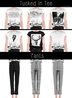 """spectacledchic: """" [spectacledchic] AM Tucked In Tee & Pants Inspired by the…"""