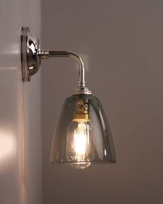 industrial wall lighting wall light with pixley smoked glass shade