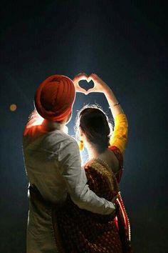 Punjabi couple, two hearts become one ❤ . via Gayatri Kalia, travelling makeup artist and hairstylis Indian Wedding Deco, Punjabi Wedding Couple, Punjabi Couple, Wedding Couple Photos, Indian Wedding Photos, Wedding Couples, Indian Wedding Photography Poses, Couple Photography Poses, Photography Ideas