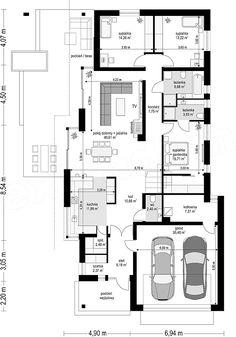 Wąski projekt alaprajza 2bhk House Plan, Narrow House Plans, House Layout Plans, House Plans One Story, Best House Plans, Dream House Plans, House Layouts, House Floor Plans, Simple House Design
