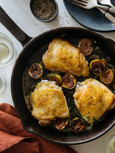 Garlic Roasted Chicken Thighs with Caramelized Figs and Onions