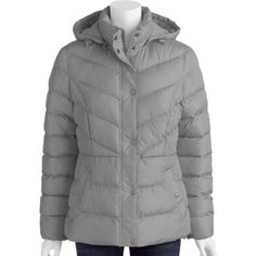 Faded Glory Women's Hooded Bubble Puffer Jacket