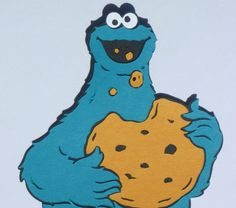 Cookie Monster Die Cut Set by CCCraftsandDesigns on Etsy, $5.00