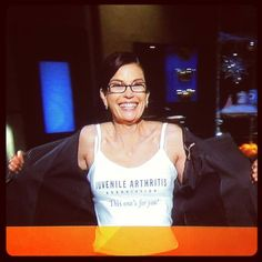 Teri Hatcher (Susan on Desperate Housewives) won the Chopped Celebrities challenge and donated the prize money to Juvenile Arthritis research!