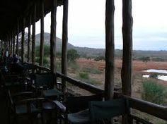 View from Kilaguni Safari Lodge terrace, Tsavo National Park, Kenya
