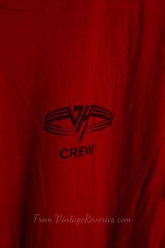 80s vintage #VanHalen crew tshirt by VintageReveries on Etsy, $49.00