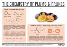 The Chemistry of Plums & Prunes: Constipation & Chewing Gum Science Chemistry, Food Science, Organic Chemistry, Science Education, Science Week, Teaching Chemistry, Physical Science, Science Classroom, Science Experiments