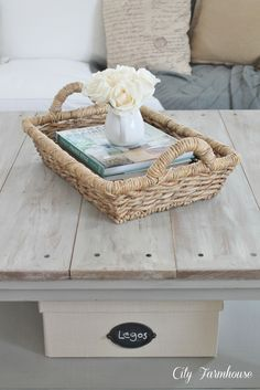 ** Would be great stain color for Mastee furniture!! Ikea Hacked Barnboard Coffee Table Tutorial - City Farmhouse