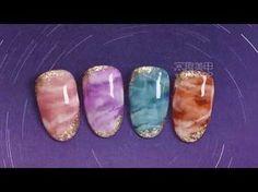 【Watch nail Teach Me-304th phase】Semi-transparent Blooming Stone Lines【窝趣美甲你求窝教-第304期】半透晶莹晕染石纹 - YouTube
