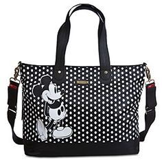 Disney Mickey Mouse Diaper Bag by Storksak | Disney StoreMickey Mouse Diaper Bag by Storksak - Mickey is on the spot whenever baby needs changing. Made from durable water-repellent nylon, this Mickey Mouse Diaper Bag by Storksak has plenty of space for all baby's essentials, and includes an insulated bottle holder and padded changing mat.