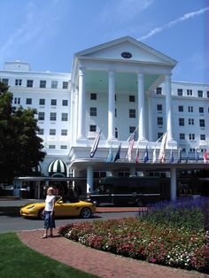 The Greenbrier has a car service that removed all the dead bugs from Mello Yello! Fabulous blue berry pancakes too.