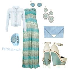 Maxi~dress, created by natalie-buscemi-hindman on Polyvore