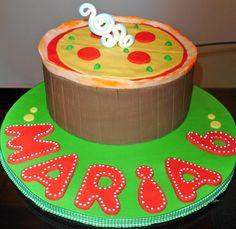 Pizza Cake Cupcake Cakes, Cupcakes, Pizza Cake, Pizza Party, Birthday Cake, Desserts, Food, Tailgate Desserts, Deserts