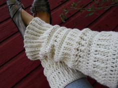 Crocheted Leg Warmers Pattern Leg Warmer by NobleCharacterCrafts