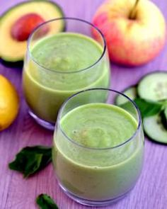 Apple, Avocado & Basil Smoothie Recipe