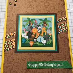 """A little playing with the Doodlebug """"At the Zoo"""" collection. #cardmakersofinstagram #cards #scrappingforless #cardmaker #cardmaking #doodlebug #doodlebugdesign  #zoo #atthezoo  #sketches"""