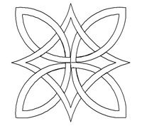 Celtic knots--- I like this simple design Celtic Symbols, Celtic Art, Celtic Knots, Embroidery Patterns, Quilt Patterns, Celtic Quilt, Celtic Knot Designs, Celtic Patterns, Wood Burning Patterns