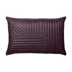 MOTUM - Quilted leather cushion - Bordeaux